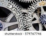 macro photo of tooth wheel... | Shutterstock . vector #579767746