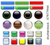 web buttons in various shapes... | Shutterstock .eps vector #57977944