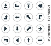 set of 16 simple cursor icons.... | Shutterstock .eps vector #579780805