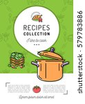 recipe book cover menu cookbook ... | Shutterstock .eps vector #579783886