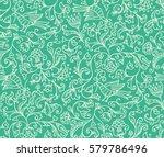 seamless floral pattern... | Shutterstock . vector #579786496