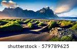 black sand dunes on the...   Shutterstock . vector #579789625