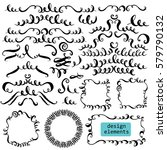set of hand drawn ink... | Shutterstock .eps vector #579790132