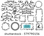 set of hand drawn ink... | Shutterstock .eps vector #579790156