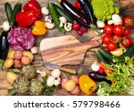 collection of mixed organic... | Shutterstock . vector #579798466