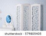 white design furniture in studio | Shutterstock . vector #579805405