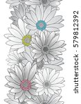 seamless floral pattern with... | Shutterstock .eps vector #579812392