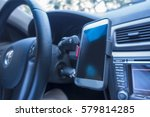 Defocused Driving A Car With...