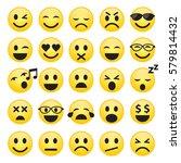 set of emoticons or emoji faces ... | Shutterstock .eps vector #579814432