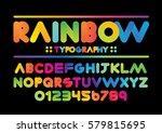 Vector Of Modern Vibrant Font...