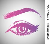 illustration with woman's eye... | Shutterstock .eps vector #579829732