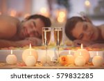 beautiful spa composition with... | Shutterstock . vector #579832285