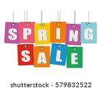 cardboard hanging   vector... | Shutterstock .eps vector #579832522