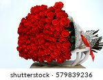 Stock photo large beautiful bouquet of red roses 579839236