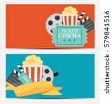 gift voucher template for your... | Shutterstock . vector #579841516