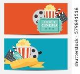 gift voucher template for your... | Shutterstock . vector #579841516