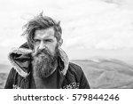 handsome man hipster or guy... | Shutterstock . vector #579844246