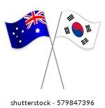 australian and south korean... | Shutterstock .eps vector #579847396