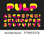 twisted pulp font vector... | Shutterstock .eps vector #579855376