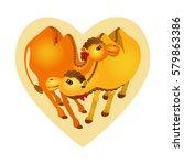 vector illustration. cartoon... | Shutterstock .eps vector #579863386