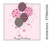 vector illustration of a happy...   Shutterstock .eps vector #579864166