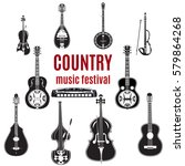 Vector Set Of Country Music...