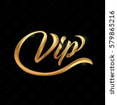 vip logo abstract quilted... | Shutterstock .eps vector #579865216