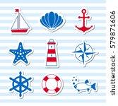 sea symbols icons | Shutterstock .eps vector #579871606