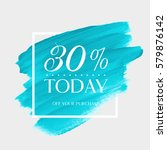 sale today 30  off sign over... | Shutterstock .eps vector #579876142