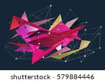 abstract 3d triangles vector... | Shutterstock .eps vector #579884446