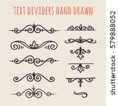 set of hand drawn text dividers ... | Shutterstock .eps vector #579888052