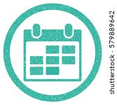 calendar grainy textured icon...   Shutterstock . vector #579889642