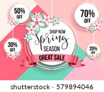 spring season sale offer ... | Shutterstock .eps vector #579894046