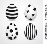 four easter eggs. minimal... | Shutterstock .eps vector #579895576