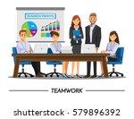 business people teamwork ... | Shutterstock .eps vector #579896392