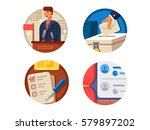 voting set icons | Shutterstock .eps vector #579897202