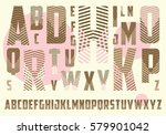 decorated alphabet with... | Shutterstock .eps vector #579901042