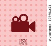 video camera icon. flat style... | Shutterstock .eps vector #579901636