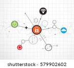 technology security concept.... | Shutterstock .eps vector #579902602