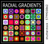set of multicolored light... | Shutterstock .eps vector #579903862