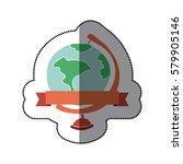 planet earth desk icon image ... | Shutterstock .eps vector #579905146
