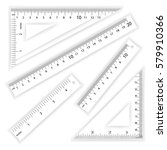 ruler and triangles vector.... | Shutterstock .eps vector #579910366