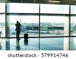 man  businessman guy or tourist ... | Shutterstock . vector #579914746