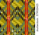 ikat seamless pattern design... | Shutterstock . vector #579920425
