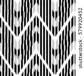 ikat seamless pattern design... | Shutterstock . vector #579920452