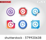 refresh icon. button with... | Shutterstock .eps vector #579920638