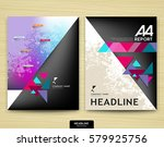 cover design annual report ... | Shutterstock .eps vector #579925756