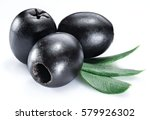 olive fruit and olive leaves on ... | Shutterstock . vector #579926302