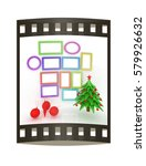 set of christmas and new year... | Shutterstock . vector #579926632