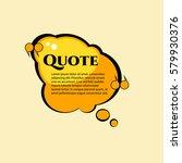 comic quote. cartoon bubble... | Shutterstock .eps vector #579930376